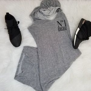 Black and White Hoodie bodycon dress